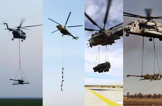 中美军用直升机吊运技能PK