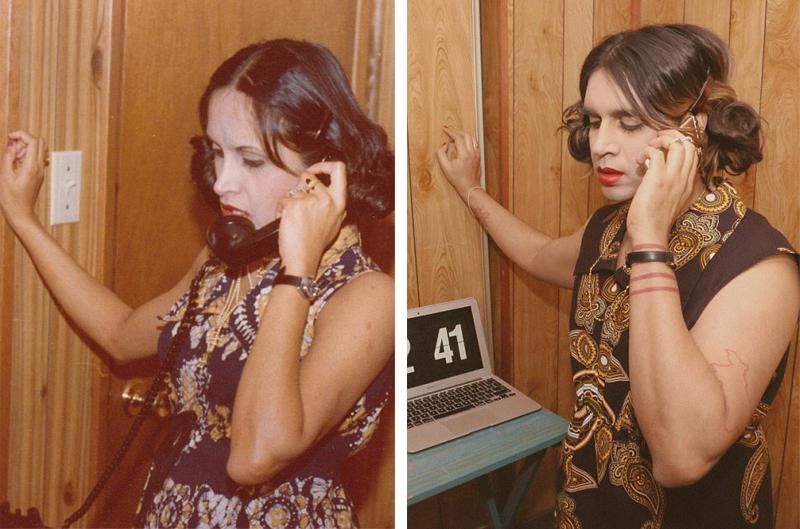 加拿大变性艺人模仿母亲旧照拍片