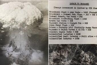美将24张核爆效果图捐赠广岛资料馆