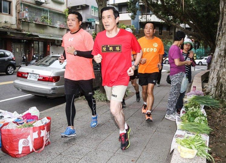 莱芜论坛:马英九卸任第一天早起跑步(图片来源:台湾《联合报》)