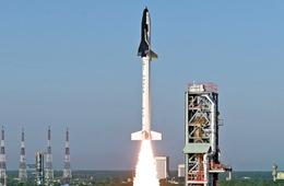 """印度成功发射国产""""航天飞机"""""""