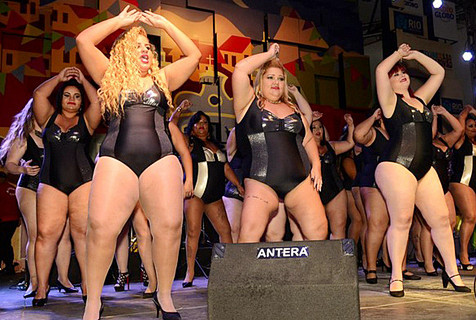 巴西胖女孩选美 重量级选手秀脂肪美
