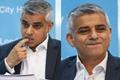 英国伦敦市长卡恩接受提问 咬手指卖萌不停