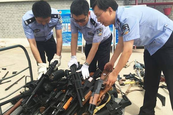 北京警方集中缴枪近千支 子弹近6万发