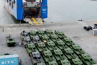 印尼最新一批豹2主战坦克到货