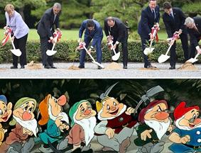 英媒调侃G7领导人植树:七个小矮人开工了
