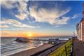 英国诺福克:海天一线 霞光初露