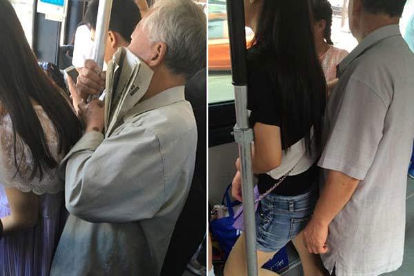 网曝北京公交车上老人乱摸女生 2年前已如此