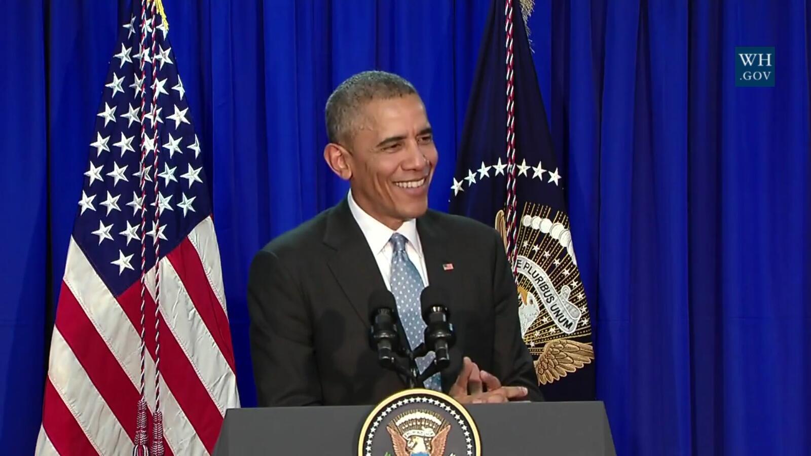 美总统举行新闻发布会 记者问题令奥巴马尴尬