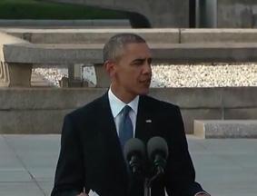 奥巴马在广岛和平公园发表演讲