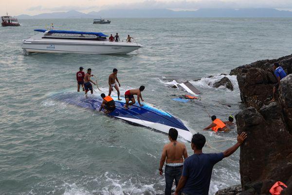 泰国苏梅岛快艇触礁翻船 一香港居民失踪
