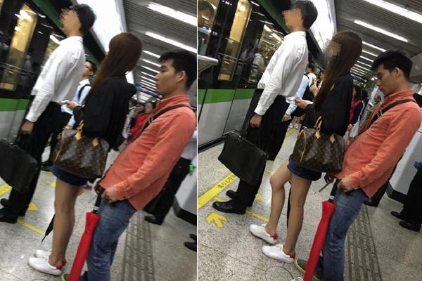 网曝上海一高校男生被指偷拍女乘客裙底