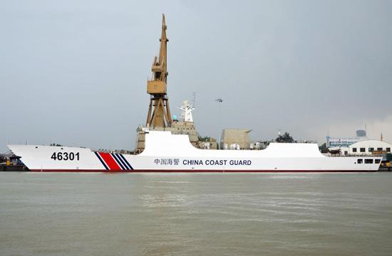 新造海警船外形酷似054A护卫舰