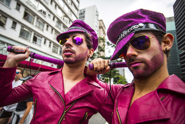 图片一周精选 巴西圣保罗举行同性恋骄傲大游行