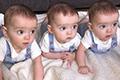 同卵三胞胎长的一模一样,几率两亿分之一!