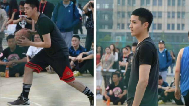 吴亦凡南京高校打篮球投篮引尖叫