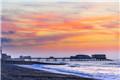 英国克罗默码头晨光美景静谧十足