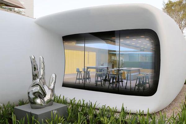 首座3D打印办公室迪拜落成 2天完成安装