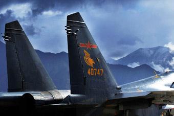 驻守高原歼11垂尾有独特标志