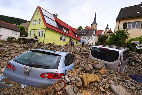 德国山洪暴发灾害惨重 致4人死亡