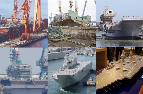中美英印日澳新型航母建造对比