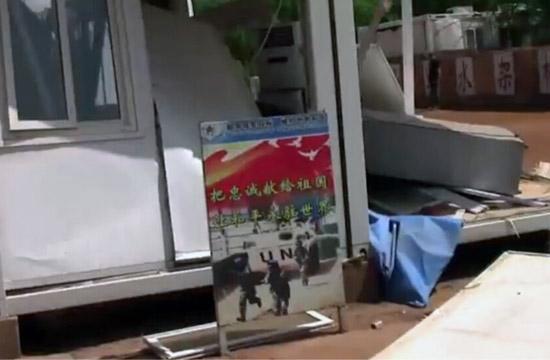 马里遭袭现场:门窗桌椅被炸飞