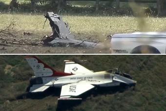 雷鸟与蓝天使表演队战机在同一天坠毁