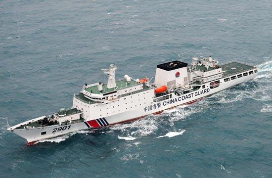 空中俯瞰中国海警海军主力舰船