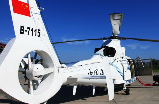 坠毁海监B7115直升机旧照