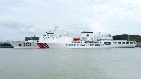 中国海警船编队今年第15次巡航中国钓鱼岛12海里
