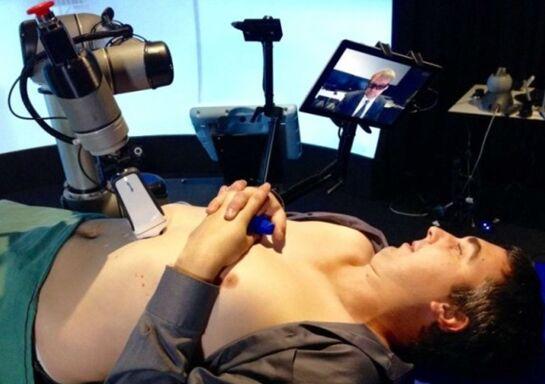 澳研发有触感医疗机器人 可为病人超声波检查