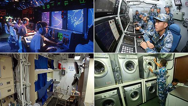 中美最强神盾舰舱内设施谁更好