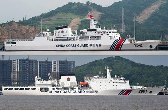 浙江海警最新入列执法船抢眼