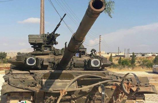 叙武装分子声称缴获T-90坦克