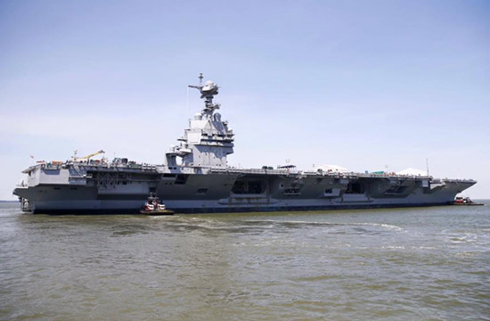 """美国最昂贵航母首次""""挪窝"""""""