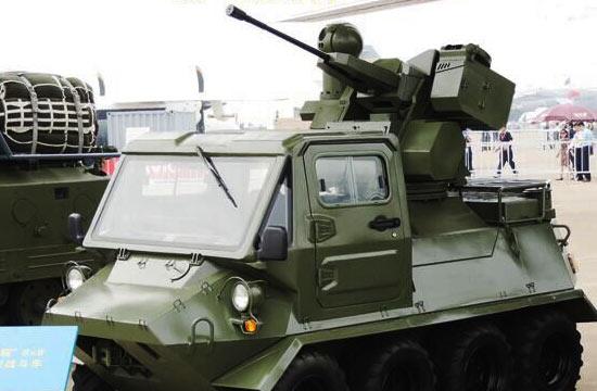 国产全地形车装上遥控武器站