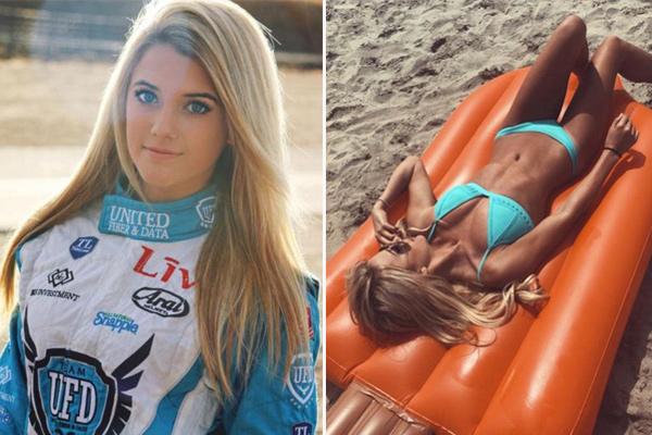 美女大学生兼职赛车手 寻赞助商助其实现赛车梦