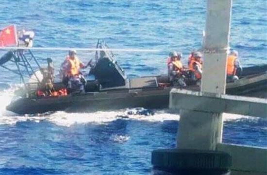 外媒称中国巡逻艇驱离越南渔船