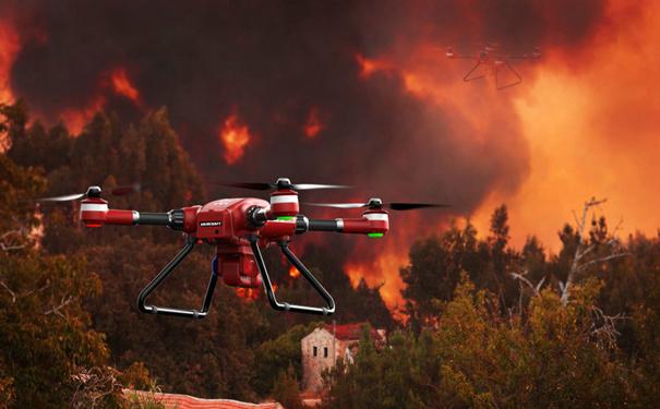 美通过法律禁止无人机在火灾地区飞行
