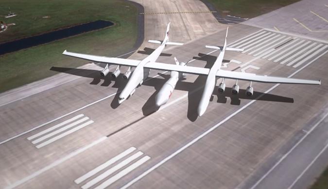 微软联合创始人造世界最大双机身运输机翼展117米