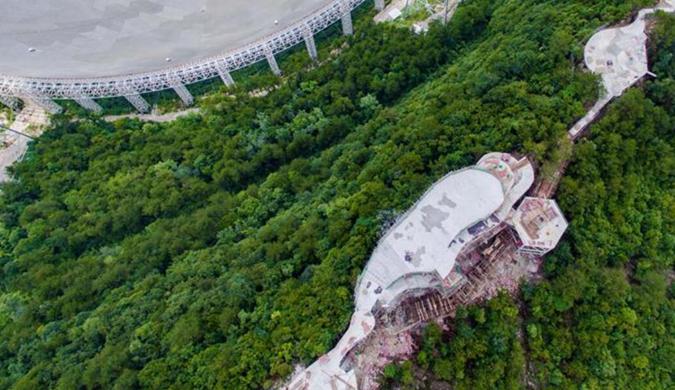 世界最大单口径射电望远镜观景台初步完工(图)