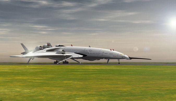 设计师设计双层超音速概念飞机:外形类似宇宙飞船
