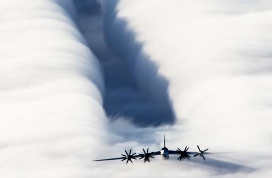 """各类飞机""""犁云""""飞行美照"""