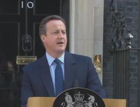 英国首相卡梅伦就公投发表讲话 宣布将辞职