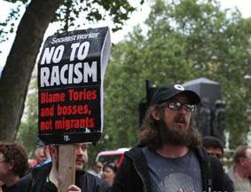 """英国部分民众抗议""""脱欧""""公投结果"""