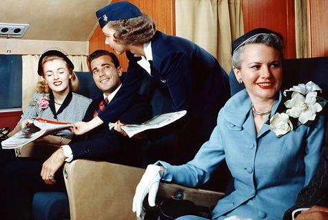 照片还原飞行黄金时代空中航行景象