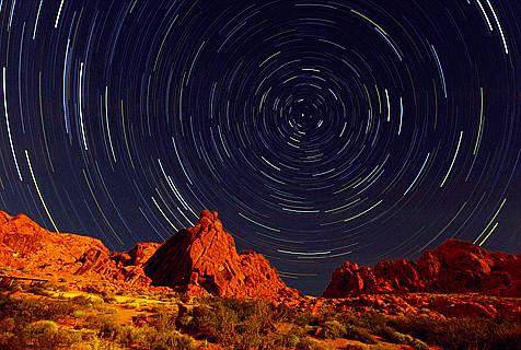宇航员拍摄美国各地星际景观大片