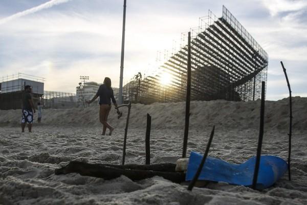 里约奥运沙排赛场附近惊现被肢解人腿