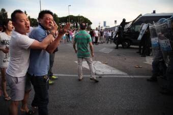 意大利警察与华人发生冲突 多人受伤