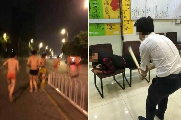 网曝长沙一理发店惩罚员工 街头裸奔喝马桶水